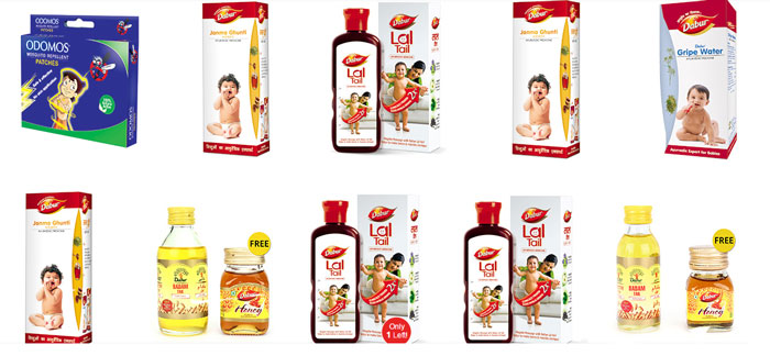 Dabur Baby Care Products