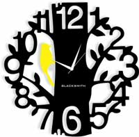 AC 1258 Black Yellow Wall Clock