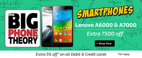 Flipkart Big Phone Theory Sale Lenovo Smartphones at Extra Rs. 500 Off