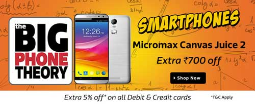 Flipkart Big Phone Theory Sale Micromax Smartphones at Extra Rs. 700 Off