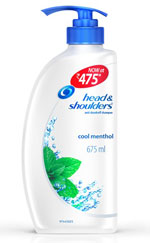 Head and Shoulders Cool Menthol Shampoo 675 ml at 10% Off