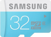 Samsung 32 GB Micro SDHC Class 6 24MB-s Memory Card at 20% Off
