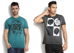 Branded T-Shirts Upto 60% Off + 250rs Extra Off on 1095rs