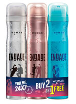 Engage Deo Sprays Spell and Drizzle With O'Whiff Free Pack Of 3