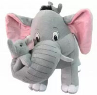 Tickles Mother Elephant with 2 Babies Toy