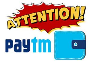 Paytm Customers Paytm Wallet Attention
