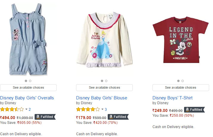 Amazon Baby Clothing Screen Shot