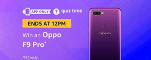 Amazon QuizTime Answers for Oppo F9 Pro