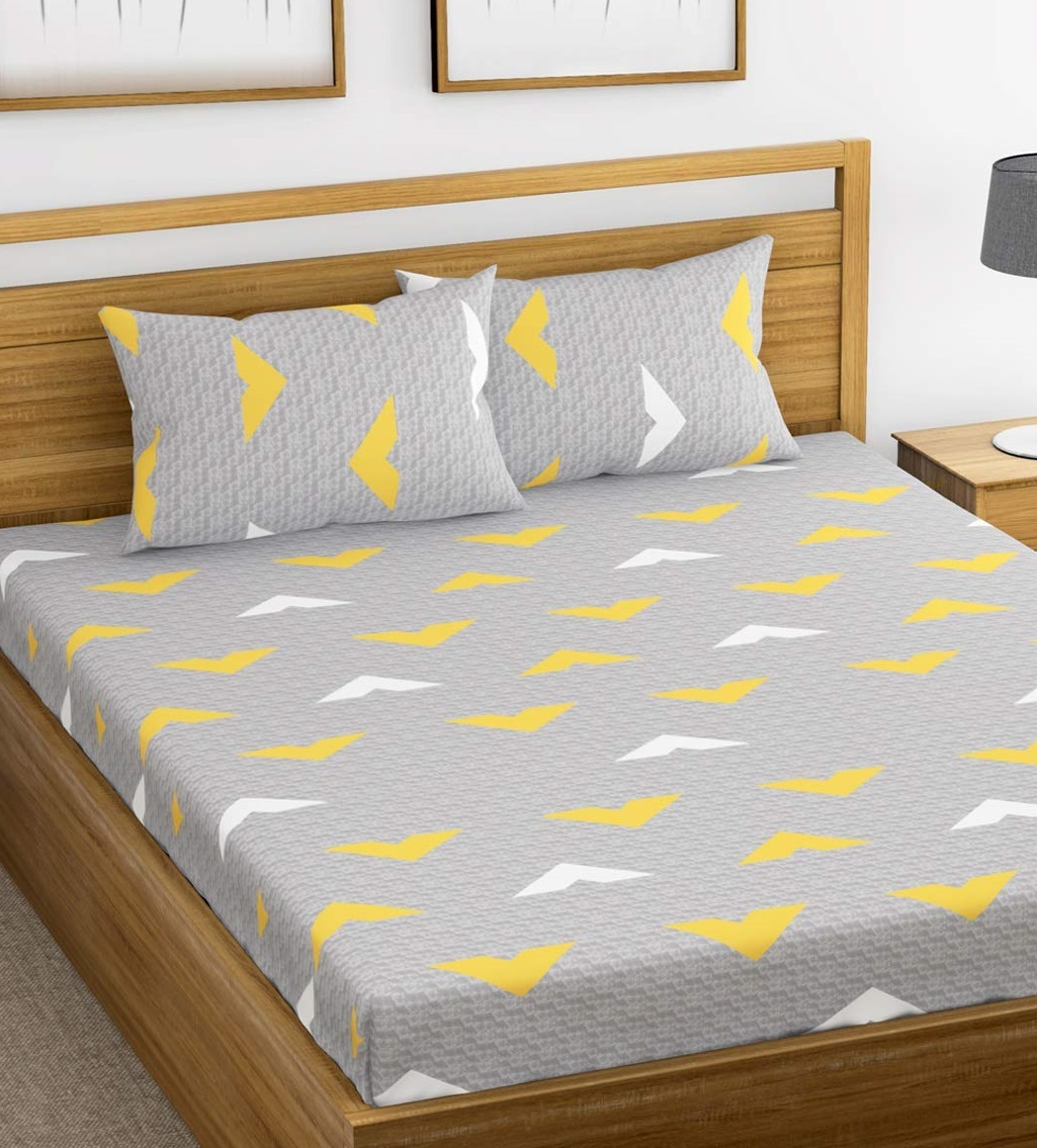Ahmedabad-Cotton-144-TC-Cotton-Double-Bedsheet-with-2-pillow-covers