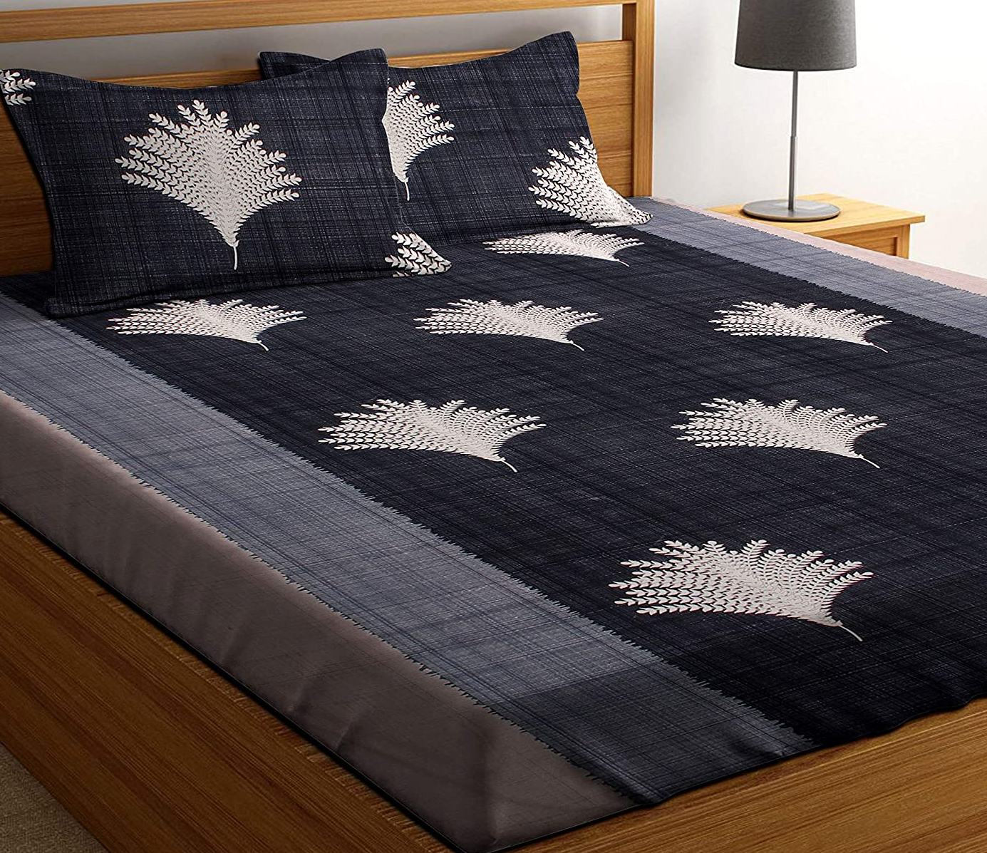 HIYANSHI-HOME-FURNISHING-Glace-Cotton-King-Size-Double-Bedsheet, Cotton Double Size Bed