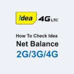 How To check Idea Net Balance 2G/3G/4G